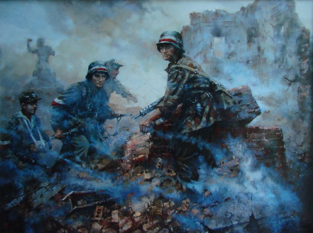 Powiśle 1944, olej 120x160 2004 r