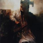 Wrastanie, olej 120x160 1997 r