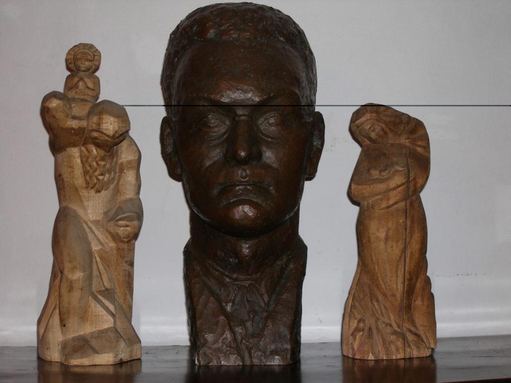 portret Św. Krzysztof, Głowa Zdzisława Brodzkiego, Matka Boska z Dzieciątkiem
