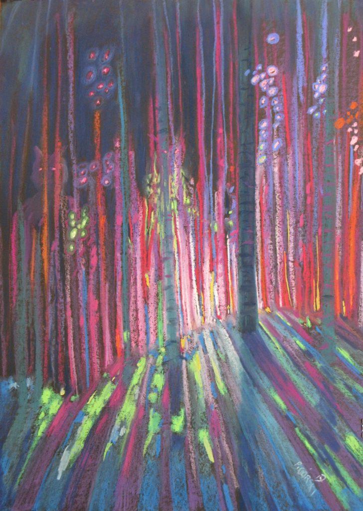 suchy pastel, papier;70x50, cykl