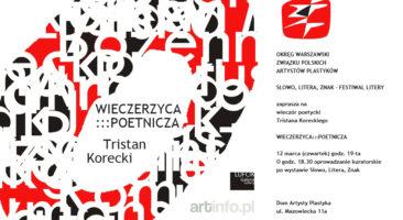 Wieczór poetycki Tristana Koreckiego