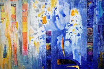 """Kamila Wojciechowicz-Krauze – """"Blue and yellow abstraction"""""""