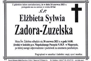 Zmarła Elżbieta Zadora-Zuzelska
